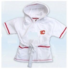 Calgary Flames Plush Baby Robes (New)