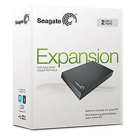Seagate 2TB USB 3.0 Portable Hard Drive - Black