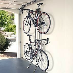 Two Bike Rack Stand Great For Apartment Or Garage Leaning Wall