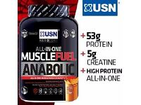 USN All in One Muscle Fuel Anabolic Protein Shakes 2kg R.R.P £53.99 Now Only £35
