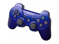 ORIGINAL sony ps3 dualshock controller in blue colour/ used couple times only still FRESH