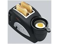 Toast and Egg Two Slice Toaster and Egg Maker,