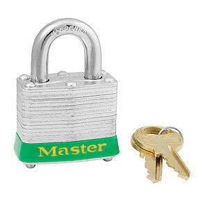 "Set  3 Master Lock 3/4"" Shank Laminated Padlocks"