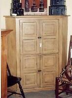 Corner Cabinet with Character Milkpaint finish