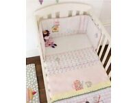 Mamas And Papas made with love Cot bumper set