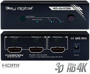 Key Digital HDMI 2x1 Switcher