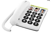 Doro PhoneEasy Big Button Corded Phone - Elderly or Partial Sighted