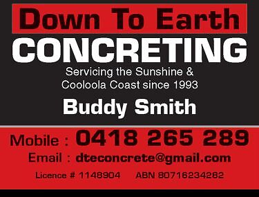 Down to Earth Concrete Southside Gympie Area Preview