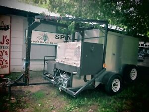 Smoker-Barbecue on a Trailer