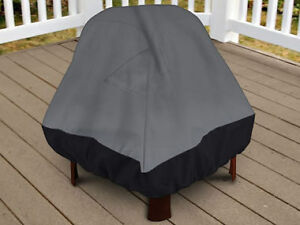 """Premium Patio Stand-Up Fire Pit Outdoor Cover 35"""" Height Dark Gr"""