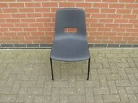 Black School Stacking Chair