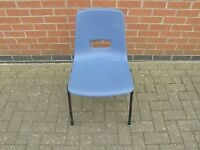 Blue School Stacking Chair