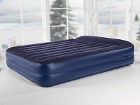 Inflatable double mattress (with built-in pump)