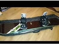161 NS snowboard Inc 2 sets of binding and cover excellent condition.
