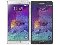 "Samsung Note 4,White/Black,32gb,Factory Unlocked,Mint Condition ""TRUSTED SELLER"" Reduced £215 Each"