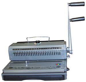 New Manual Wire Binder/Puncher Combo 2:1 Pitch Twin-loop Wire-O