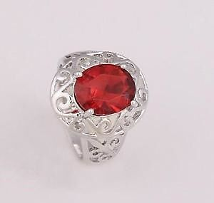 New Silver Plated CZ Ring Size 8