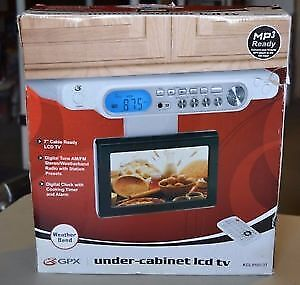 GPX KCL8806DT 7-inch Under Counter LCD TV/Radio brand new