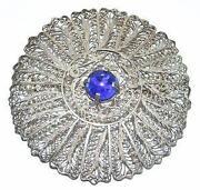 Blue Stone Brooch