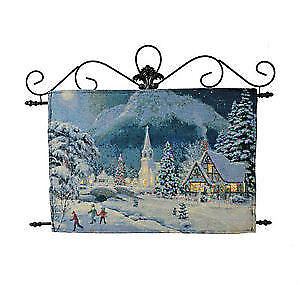 Holiday Memories Double Side Fiber Optic Tapestry - NEW