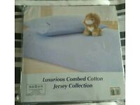 Brand new 2 Cot Sheets & 2 pillow case 60 x 120cm