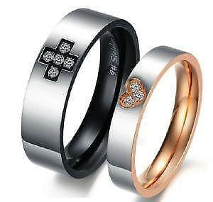 His And Hers Titanium Wedding Ring Sets