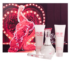Can Can by Paris Hilton for Women - 4 Pc Gift Set 3.4oz EDP Spray, 3oz Body Lot