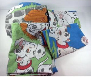 Disney 101 Dalmations Twin Bed Sheet Set 4 Pieces Fitted Flat London Ontario image 1
