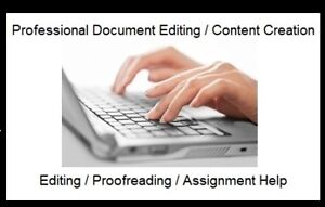 Proofreading, Editing, Content Creation Services
