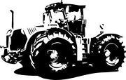 Wandtattoo Traktor