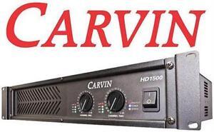 NEW CARVIN HD1500 POWER AMPLIFIER MUSICAL INSTRUMENT AUDIO EQUIPMENT