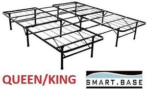 NEW* SMARTBASE BED FRAME QUEEN/KING STEEL QUEEN OR KING BED FRAME FOR MATTRESS 105532846