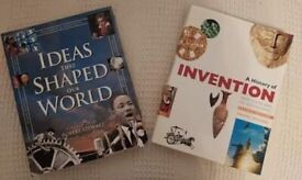 Ideas that Shaped our World by Robert Stewart and A History of Invention Books