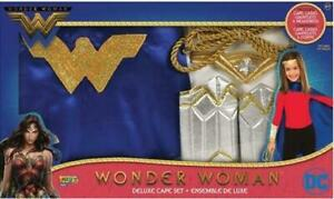 Wonder Woman Deluxe Cape Costume Set for Kids 4-6 Years