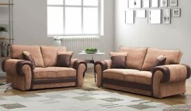 Scs 3&2 seater sofa with FREE FOOTSTOOL