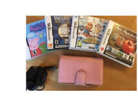 Nintendo DS LITE for sale with 4 games, spare stylus & charger