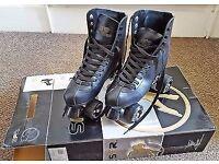 SFR Sovereign Black Roller Skates Size 8 in original box