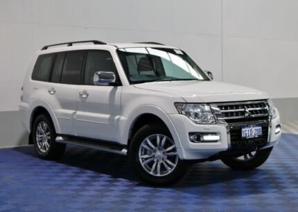2015 Mitsubishi Pajero NX MY15 GLS LWB (4x4) Cool White 5 Speed Auto Sports Mode Wagon