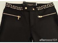 VERSACE. New with Tags (RRP£265) Neoprene Trouser Leggings. Celebrity designer fashion size 8
