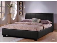 **BIG OFFER **LEATHER BED WITH ORTHOPAEDIC MATTRESS! SINGLE BED & KINGSIZE BED AVAILABLE