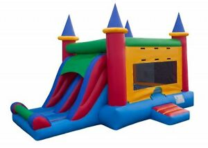 23' × 15' FEET COMMERCIAL GRADE BOUNCY CASTLE COMBO WITH 2 SLIDE