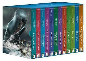 Library of Illustrated Classics - Tales of Adventure 12 Hardcover Bookset