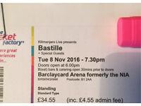 Bastille - Barclaycard Arena - Birmingham 2 x Standing Tickets
