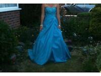 Blue floor length prom/bridesmaid dress
