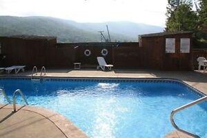 Condo avec piscine extérieure - Sutton