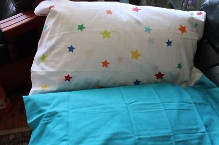 Stars - Pillow Mattress - AQUA BLUE - Brand New