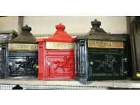 Cast iron post boxes