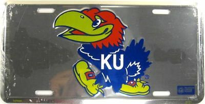 Kansas University Metal License Plate Ku Jayhawks L595