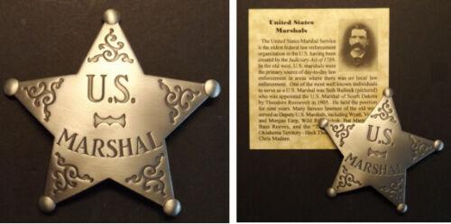 U.S. Marshal Badge, Old West, Western, Seth Bullock,United States, silver
