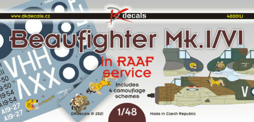 1/48 DK Decals 48001; Bristol Beaufighter Mk.I in RAAF Service